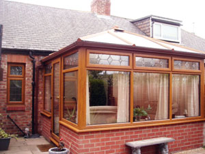 Conservatory side wall construction