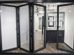 Our Aluminium Bi Folding Doors Are Constructed Using Smart Systems VISOFOLD  1000 Folding Sliding Door System. The Door Has Been Designed To Eliminate  The ...